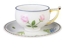 RUSSIAN Imperial Lomonosov Porcelain Tea Cup Saucer Flower Bluebell Tarusa Gold