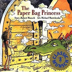"""Munsch, R. N. (1980). The paper bag princess. Annick Press and Discus Books. Ages 4-7.  Princess Elizabeth is about to be to wed Prince Ronald when a dragon comes with a mouthful of fire, burning all of her belongings. The hand drawn ink illustrations show the scratchy descriptions of Elizabeth and her crispen life now with a brown paper bag left. The blunt response Elizabeth give to Ronald after being rejected, """"You look like a real prince, but you're a bum"""" demonstrates the true attitude…"""