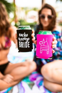 Take your party game to the next level with these bright, cute and READY TO SHIP Piñata + Cactus drink coolers- and don't forget to stock up on our matching hair tie and tattoo favors! Bridesmaid Proposal Gifts, Be My Bridesmaid, Bridal Shower Games, Baby Shower Parties, Drink Coolers, Pre Party, Bachelorette Party Favors, Fiesta Party, Hair Tie
