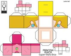 Peach Mario Bros - cubeecraft / papercraft part1 by MarcoKobashigawa