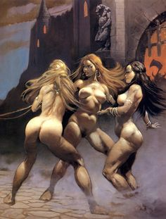 hyborianbabe: Castle of Sin by Frank Frazetta