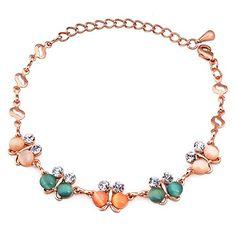 Menton Ezil Rose Gold Plated Cubic Zirconia Rhinestone Cat's Eye Opal Resizable Bracelet Bangle For Girls #birthdaygift #link #women #bracelet #Mentonezil #gift #girls #beauty #jewelry #accessory #womansfashion #elegance #pretty #stylish #mother #colorfulbutterfly www.mentonezil.com  https://www.facebook.com/mentonezilfashion/  https://twitter.com/MentonEzil https://www.instagram.com/mentonezilfashion/