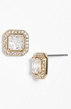 Crystal stud earrings for the bride