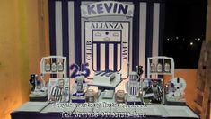 Decoración de fondo de Alianza Lima Real Madrid, Ideas Para, Neon Signs, Baby Shower, Stickers, Art, Football Themed Parties, Male Birthday Parties, Ticket Invitation