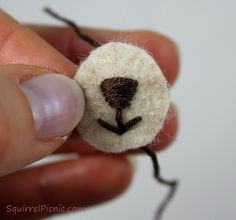 How to embroider . Faces for Amigurumi Part 1: Using Safety Eyes And Simple Embroidery - Step 19