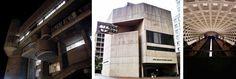 Government service center by Paul Rudolph, Boston USA, 1971; Third Church of Christ by Araldo Cossutta, D.C., 1971; Metro station, D.C.