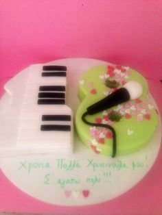 18th birthday Piano Cakes, Music Cakes, 18th Birthday Cake, Number Cakes, Fabulous Foods, Fondant Cakes, Food And Drink, Desserts, Food Ideas