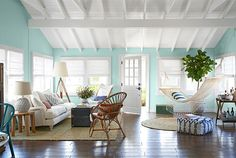 Hurricane Sandy House Makeover - 2013 House of the Year Photos - Country Living (PS Emily Henderson is genius.)