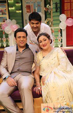 Pics: Govinda Sunita Ahuja & Their Daughter Tina Ahuja On The Kapil Sharma Show