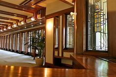 Frank Lloyd Wright Robie House (1909) in Hyde Park Chicago