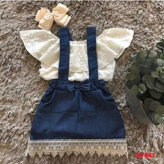 Details about Lace Newborn Kid Baby Girl Top Suspender Skirt Dress Outfits Clothes Summer US S - Moda para niñas pequeñas - Baby Baby Girl Tops, Cute Baby Girl Outfits, Girls Summer Outfits, Cute Baby Clothes, Baby Girl Dresses, Baby Dress, Dress Girl, Baby Girl Clothes Summer, Baby Girl Fashion