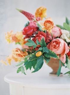 Gorgeous hued florals: http://www.stylemepretty.com/little-black-book-blog/2015/02/11/vibrant-springtime-floral-inspiration/ | Photography: Heather Payne - http://www.heatherpaynephotography.com/