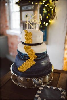 Rachel & Hayley – December 2016 - A same-sex winter wedding with a navy & gold theme and an appearance from Santa Claus | Images: Ed Godden Photography