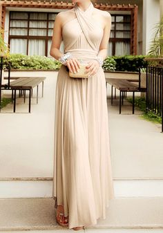 Apricot Magic Maxi - Elegant Versatile Dress