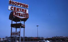 """Steinberg's at Domaine Shopping Center in East Montreal. Picture from 1968 showing the original storefront since In the storefront changed due to expansion. In Metro took over and storefront was changed twice. Now it is """"Metro Plus"""" who is the tenant. Centre, Montreal Ville, The Tenant, Shopping Center, Store Fronts, Vintage Photography, The Expanse, Marie, Canada"""