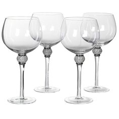 195d5756523b A set of stunning bling Gin glasses with silver and chrome crystals. The  stunning bling