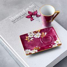 『ヘレンド赤地菊で豆皿』