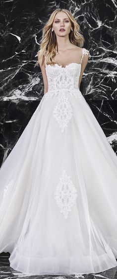 """Wedding Dresses by Victoria KyriaKides Bridal Spring 2018 Collection """"Le Boudoir"""" - Belle The Magazine Wedding Dresses 2018, Wedding Bridesmaid Dresses, Designer Wedding Dresses, Bridesmaids, Beautiful Gowns, Beautiful Bride, Boudoir, Gowns Of Elegance, Perfect Wedding Dress"""