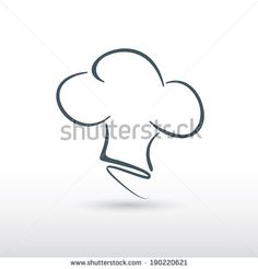 chef hat icon design in vector format