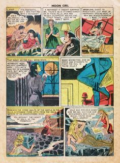 Four-Color Shadows: Moon Girl and the Prince-Sheldon Moldoff-1949