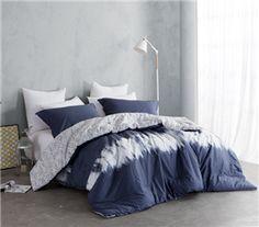 Navy Blur Twin XL Comforter Set