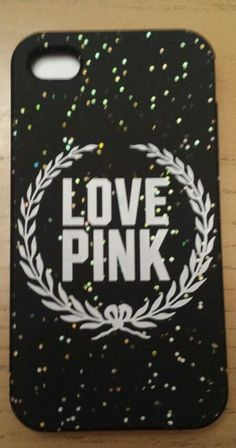 Victoria's Secret PINK  iphone 4 Case Cell Pone Soft NIP Dark Gray with Glitter #VictoriasSecret