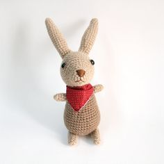 Amigurumi Crochet Brown Bunny Cute by meemanan on Etsy, $28.00