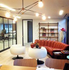 BAM! Our Cord Chandelier in Sophia Amoruso's office! #girlboss www.brendanravenhill.com