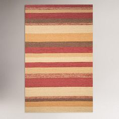 One of my favorite discoveries at WorldMarket.com: Stripe Indoor-Outdoor Rug, Red