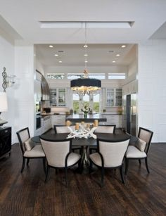 Contemporary Dining Room Design, Pictures, Remodel, Decor and Ideas - page 4 Dining Room Centerpiece, Dining Room Table, Dining Area, Dining Rooms, Kitchen Dining, Open Kitchen, Small Dining, Round Dining, Dining Chairs