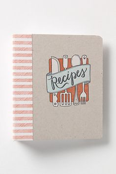 I get really excited when I see @Carrie Shryock (1canoe2)'s things on my favorite store Anthropologie! Letterpress Recipe Binder #anthropologie