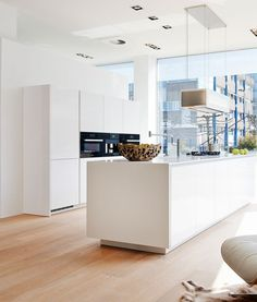 #kitchen #bright #colours #white #windows #sun #light #floor