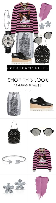 """""""Sweater Weather"""" by luxurycitizen on Polyvore featuring DKNY, STELLA McCARTNEY, Prada, Illesteva, Bling Jewelry, Gucci and Bremont"""