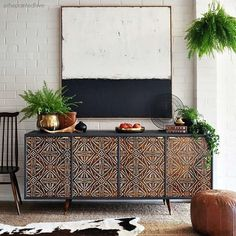 An exotic tribal-inspired stencil with a modern global design, the Tribal Batik Furniture Stencil is perfect for both wall and painted furniture projects such as tables, doors, and cabinets. Use our T