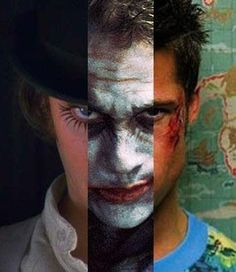 Alex DeLarge, A Clockwork Orange Joker, The Dark Knight, Tyler Durden, Fight Club