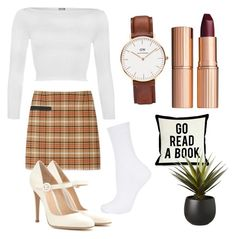 """""""That's so British"""" by daijah-escobar on Polyvore featuring Tory Burch, WearAll, Topshop, Gianvito Rossi, Charlotte Tilbury and CB2"""