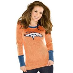 Pro Line Denver Broncos Womens Yukon Vale Full Zip Vest - Orange ...