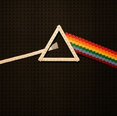 Dark Side of the Moon - UK designer Aaron Savage has recreated various album covers using only LEGO bricks in a series he calls 'Brick the LP'.