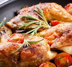 Recept Smažené kuře po Americku Rosemary Chicken, Roasted Chicken, Spatchcock Chicken, Salad Chicken, Chicken Broccoli, Clean Eating, Healthy Eating, Healthy Cooking, Italian Roast