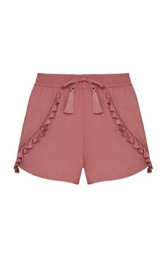 Blush Tassel Shorts These adorable and stylish shorts are adorned with tassel embellishments and are perfect for Spring and Summer Atmosphere Shorts Kids Outfits, Casual Outfits, Cute Outfits, Korean Fashion, Kids Fashion, Fashion Pants, Fashion Outfits, Chor, Fashion Clothes