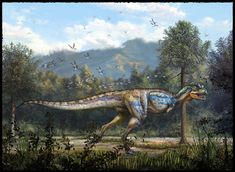 Carnotaurus sastrei by Cheung Chung Tat: this is probably one of the best carnotaurus's I have ever seen. I love how vivid its colors are, and the background really gives it a nice sense of place.