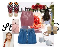 """""""Girl of summer"""" by luluheloisaluluzinha ❤ liked on Polyvore featuring Glamorous, MANGO, Forever 21, Havaianas, Stella & Dot, Free People and strawbags"""