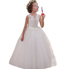 98d780db65 Abaowedding Ball Gown Lace up Flower First Communion Girl Dresses(US 2
