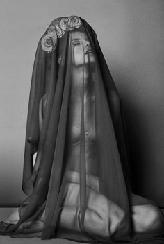 ☫ A Veiled Tale ☫ wedding, artistic and couture veil inspiration - dark