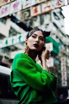 "stormtrooperfashion: Wu Ting Ting in ""Sham Shui Po"" by Jeff Hahn for SCMP Post Magazine, March 2013 Foto Fashion, Fashion Shoot, Editorial Fashion, Asian Fashion, Fashion Edgy, Fashion 2018, Fashion Fall, Fashion Women, High Fashion"