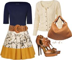 """""""Yellow and Print Skirt"""" by styleofe on Polyvore"""