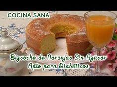 Bizcocho de naranja sin azúcar, apto para diabéticos   Salud Stevia, Bagel, Doughnut, Sugar Free, Cupcake Cakes, Low Carb, Pudding, Bread, Snacks