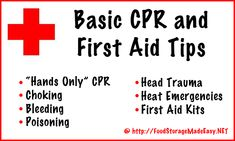 Knowing basic CPR and first aid is CRUCIAL in times of disaster, and in everyday life! Check out some basics in this post (video included)