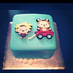 Calvin & Hobbes cake - for noah's first birthday!