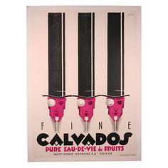 Swiss ad poster for Calvados - 1930 - artist Noel Fontanet.